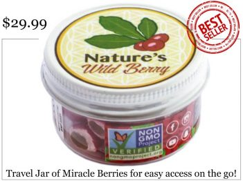 Miracle berry travel jar